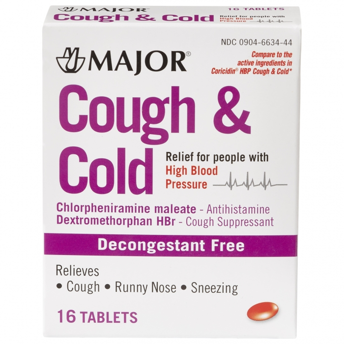 COUGH & COLD HIGH BP TABS [MAJOR]
