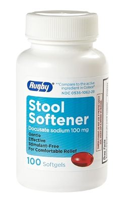 STOOL SOFTENER LAXATIVE 100MG SGEL
