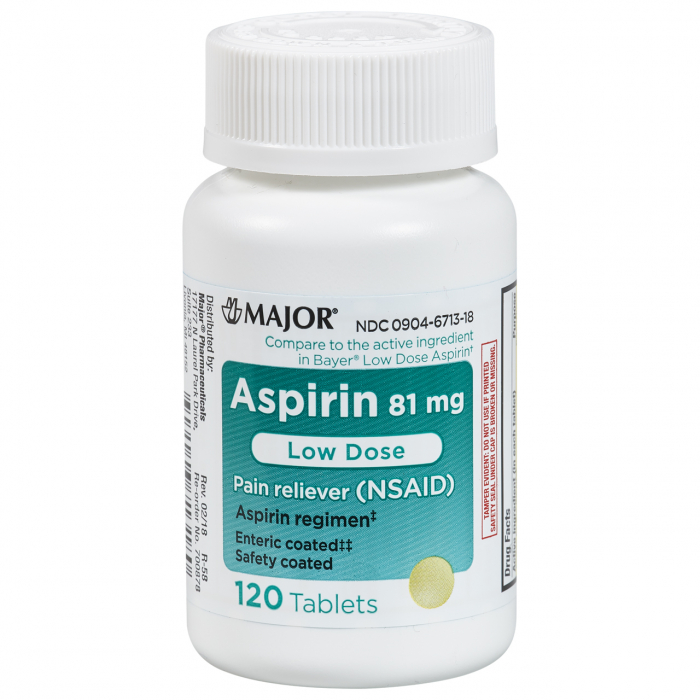 ASPIRIN LOW 81MG EC TABS [MAJOR]